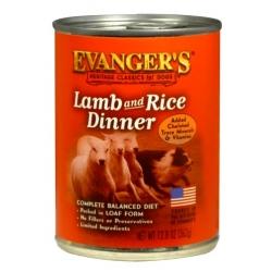 Evanger's Classic Dogs Dinner Jagnięcina + Ryż puszka 362g