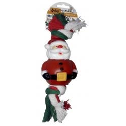 Dingo Zabawka dla psa - Sznur świąteczny Mikołaj 25cm
