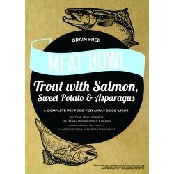 Meat Bowl - Pstrąg z łososiem, batatami i szparagami 6 kg - Light