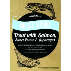 Meat Bowl - Pstrąg z łososiem, batatami i szparagami 12 kg - Light