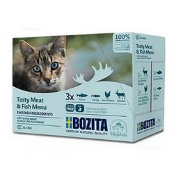Bozita Cat Multibox z mięsem i rybą w sosie saszetki 12x85g