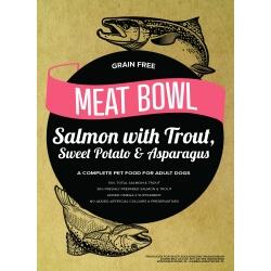 Meat Bowl - Łosoś z pstrągiem, batatami i szparagami 12 kg