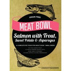 Meat Bowl (Rasy Małe) - Łosoś z pstrągiem, batatami i szparagami 6 kg