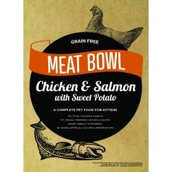 Meat Bowl (Kocięta) - Kurczak i łosoś z batatami 2 kg