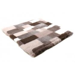 Canifel DryBed Posłanie Patchwork 100x75cm kremowo-czekoladowy