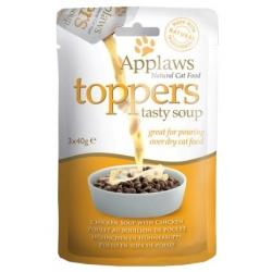 Applaws Cat Topper Rosół z kurczakiem 3x40g
