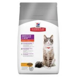 Hill's Science Plan Feline Adult Sensitive Stomach & Skin Kurczak 1,5kg