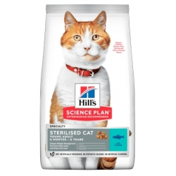 Hill's Science Plan Feline Young Adult Sterilised Cat Tuńczyk 3kg