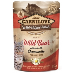 Carnilove Cat Wild Boar & Chamomile - dzik i rumianek saszetka 85g
