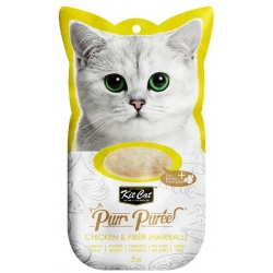 Kit Cat PurrPuree Chicken & Fiber Hairball 4x15g