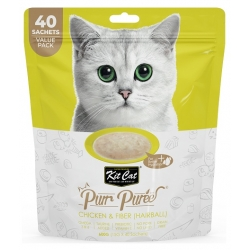 Kit Cat PurrPuree Chicken & Fiber Hairball 40x15g
