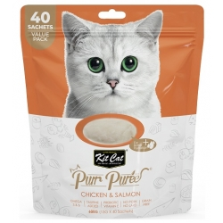 Kit Cat PurrPuree Chicken & Salmon 40x15g
