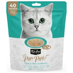 Kit Cat PurrPuree Tuna & Fiber Hairball 40x15g