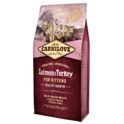 Carnilove Cat Salmon & Turkey for Kittens - łosoś i indyk 6kg