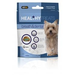 Vetiq Przysmaki dla szczeniąt i psów Świeży oddech i zdrowe zęby Healthy Treats Breath & Dental For Dogs 70g