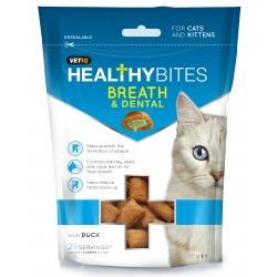 Vetiq Przysmaki dla kotów i kociąt Świeży oddech i zęby Healthy Bites Breath & Dental For Cats & Kitten 65g