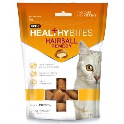 Vetiq Przysmaki dla kotów i kociąt Kule włosowe Healthy Bites Hairball Remedy For Cats & Kitten 65g