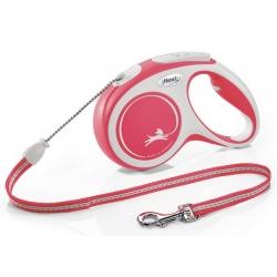 Flexi New Comfort Smycz linka M 5m czerwona [FL-2922]