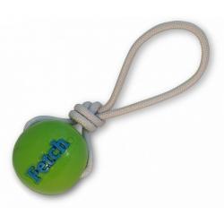 Planet Dog Fetch Ball piłka ze sznurem zielona [68733]