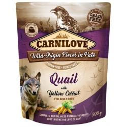 Carnilove Dog Quail & Yellow Carrot - przepiórka i żółta marchew saszetka 300g