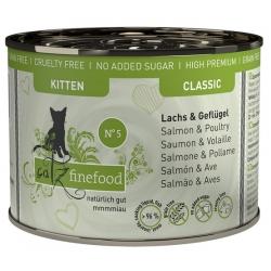 Catz Finefood Kitten N.05 Łosoś i drób puszka 200g