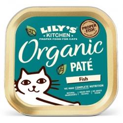 Lily's Kitchen Kot Organic Fish Dinner tacka 85g