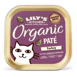 Lily's Kitchen Kot Organic Turkey Dinner tacka 85g