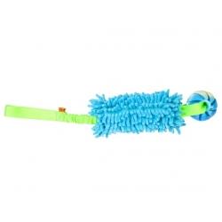 Dingo Zabawka dla psa - Szarpak Mop Bungee z piłką niebieski
