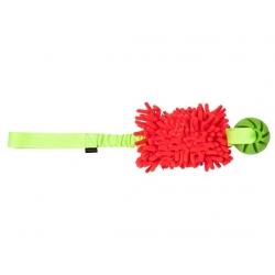 Dingo Zabawka dla psa - Szarpak Mop Bungee z piłką różowy