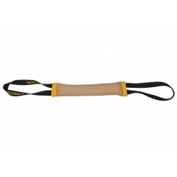 Dingo Zabawka dla psa - Szarpak z juty z dwoma uchwytami 40/6cm