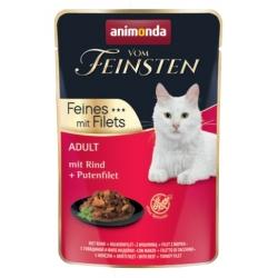 Animonda vom Feinsten Cat Adult Wołowina + filet z indyka saszetka 85g