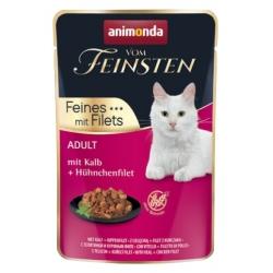 Animonda vom Feinsten Cat Adult Cielęcina + filet z kurczaka saszetka 85g