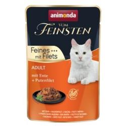 Animonda vom Feinsten Cat Adult Kaczka + filet z indyka saszetka 85g