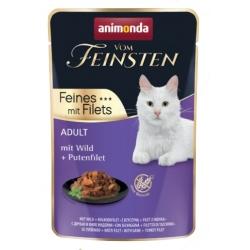 Animonda vom Feinsten Cat Adult Dziczyzna + filet z indyka saszetka 85g