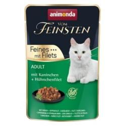 Animonda vom Feinsten Cat Adult Krolik + filet z kurczaka saszetka 85g