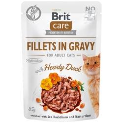 Brit Care Cat Fillets In Gravy Hearty Duck saszetka 85g