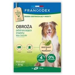 Francodex Obroża odstraszająca insekty duże psy powyżej 20kg 75cm [FR179173]