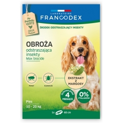 Francodex Obroża odstraszająca insekty średnie psy 10-20kg 60cm [FR179172]