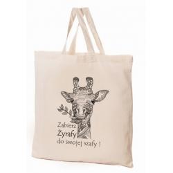 Torba bawełniana 38x42x10cm Zwierzaki - żyrafa