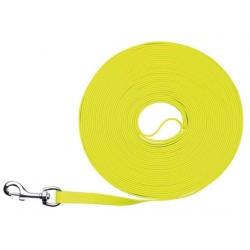 Trixie Easy Life Smycz do tropienia M-XL 15m/17mm odblaskowa żółty neonowy [20719]