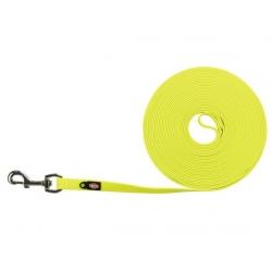 Trixie Easy Life Smycz do tropienia M-XL 10m/17mm odblaskowa żółty neonowy [20718]