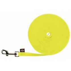 Trixie Easy Life Smycz do tropienia M-L 10m/13mm odblaskowa żółty neonowy [20727]