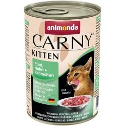Animonda Carny Kitten Wołowina, Kurczak + Królik puszka 400g