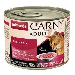 Animonda Carny Adult Wołowina + Serca puszka 200g
