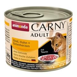 Animonda Carny Adult Wołowina, Kurczak + Kacze serca puszka 200g