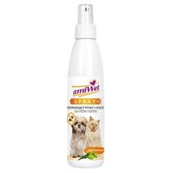 Amiwet Spray odstraszający pchły i kleszcze dla psów i kotów 200ml