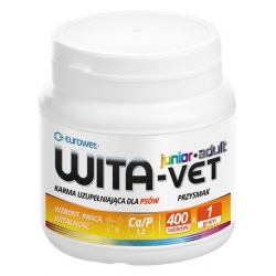 Wita-Vet Junior + Adult dla psów  25kg 1g 400tabl