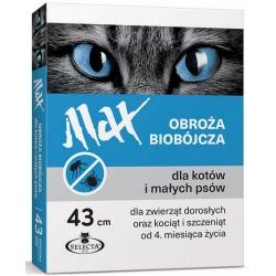 Selecta HTC Obroża Max biobójcza dla kota i małego psa przeciw pchłom i kleszczom niebieska 43cm