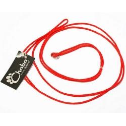 CHABA Smycz ringówka - 4mm czerwona