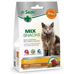 Dr Seidel Smakołyki dla kotów 2w1 malt/sierść 60g